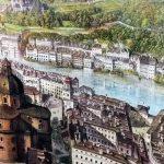 Salzburg Panorama-Museum Panoramagemälde Altstadt