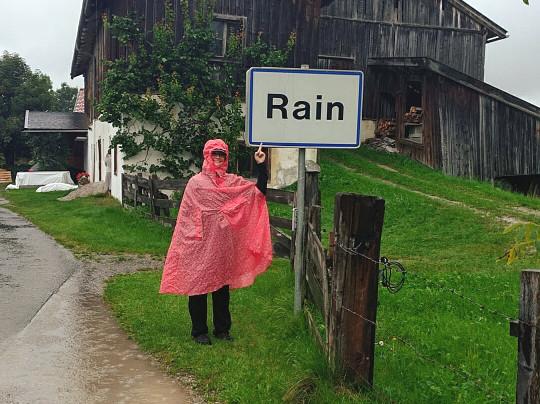 Saalfelden Rain Spaziergang Regen Poncho