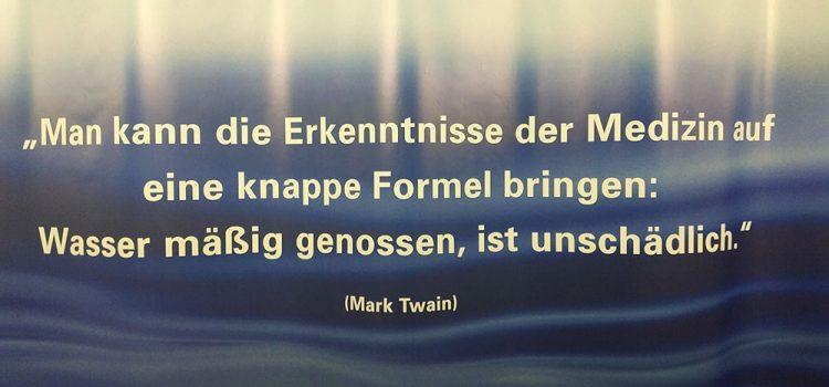 Salzburg Museum Wasser.Spiegel Zitat Wasser Mark Twain