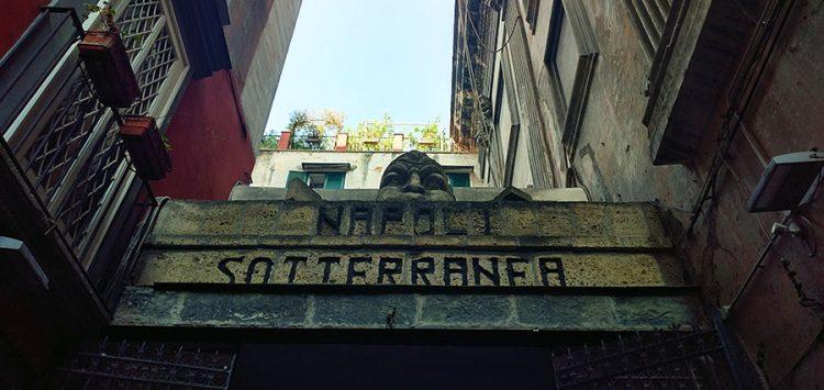 Portal Eingang Napoli Sotteranea