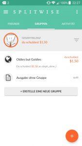 Splitwise App, Reisekosten teilen, Best of Reiseapps