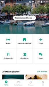 Tripadvvisor Startseite Auswahl Kategorien Best of Reiseapps