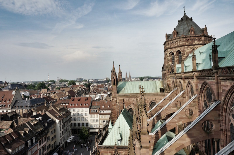 Kathedrale Notre Dame in Straßburg, Münster, Aussicht von Plattform,, Wanderhunger, Fotostrecke