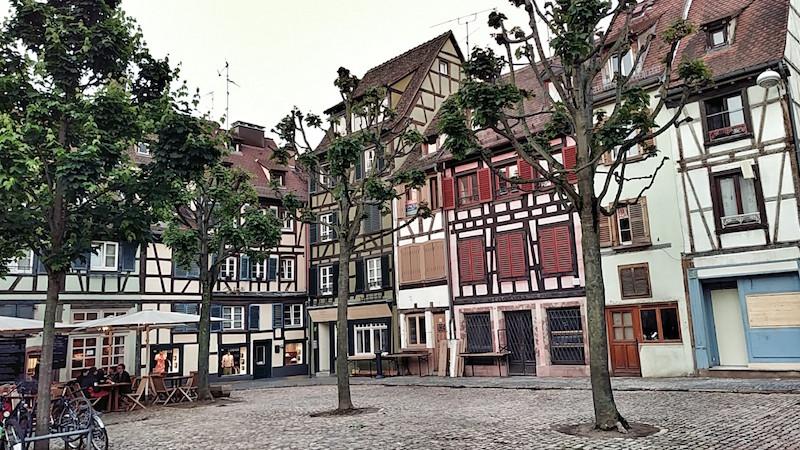 Fachwerkhäuser an der Place St. Gayot, Straßburg, Wanderhunger, Fotostrecke