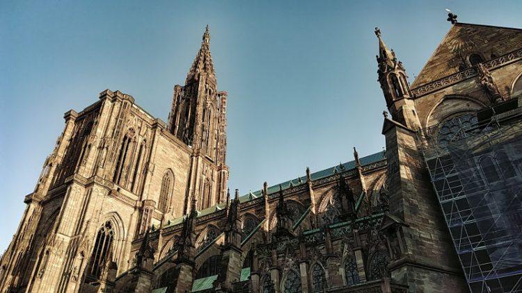 Nordturm der Kathedrale Notre Dame de Strasbourg, Münster, Strassburg, Wanderhunger