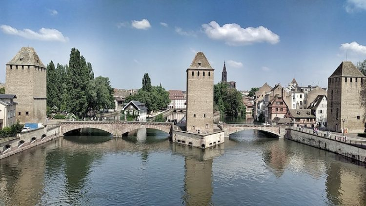 Ill-Kanäle und Ponts Couverts in Strassburg, La Petite France, Wanderhunger, Fotostrecke