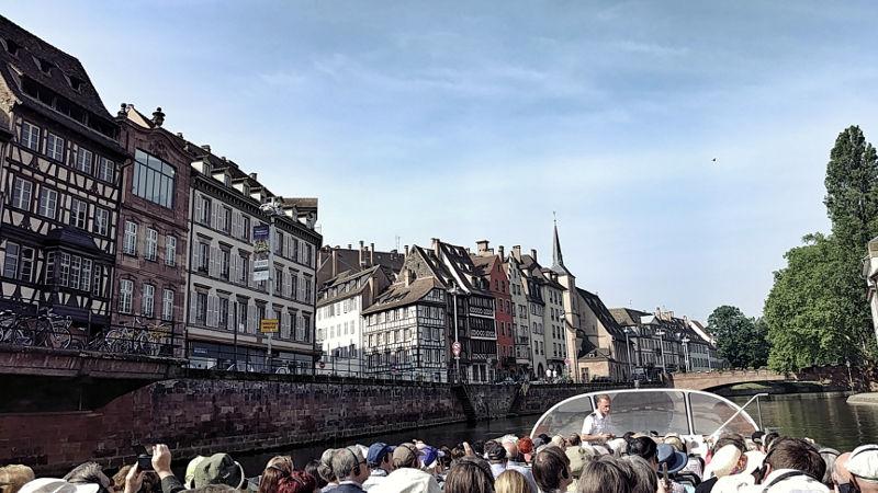 Bootsfahrt auf der Ill durch Strassburg mit Batorama, Wanderhunger