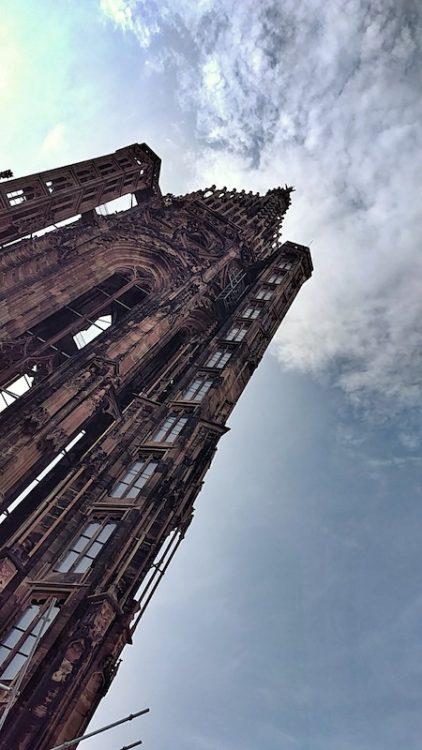 Blick auf den Nordturm von der Aussichtsplattform, Kathedrale Notre Dame, Münster, Strassburg, Wanderhunger, Fotostrecke