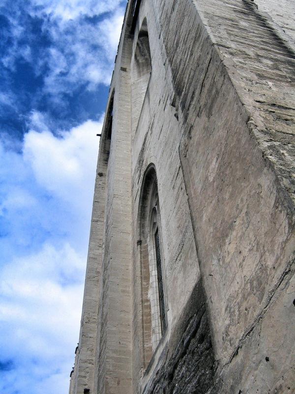 Kathedrale in Avignon, Mauerdetail, Avignon Fotostrecke