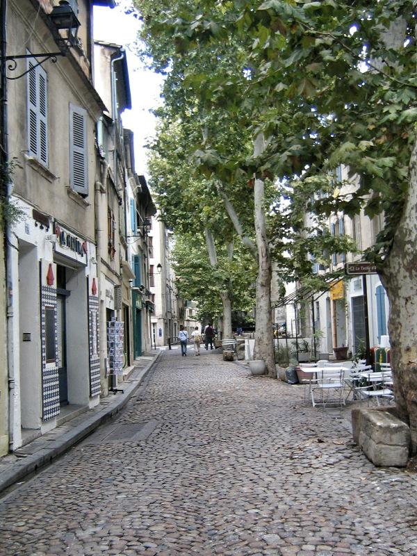 Kleine Gasse in Avignon, Avignon in Bildern