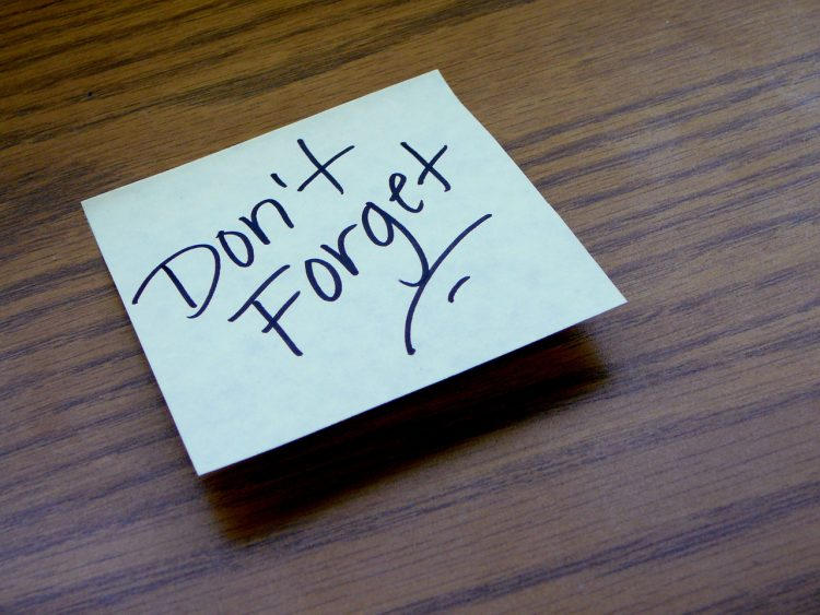 Don't forget notice paper, Wanderhunger