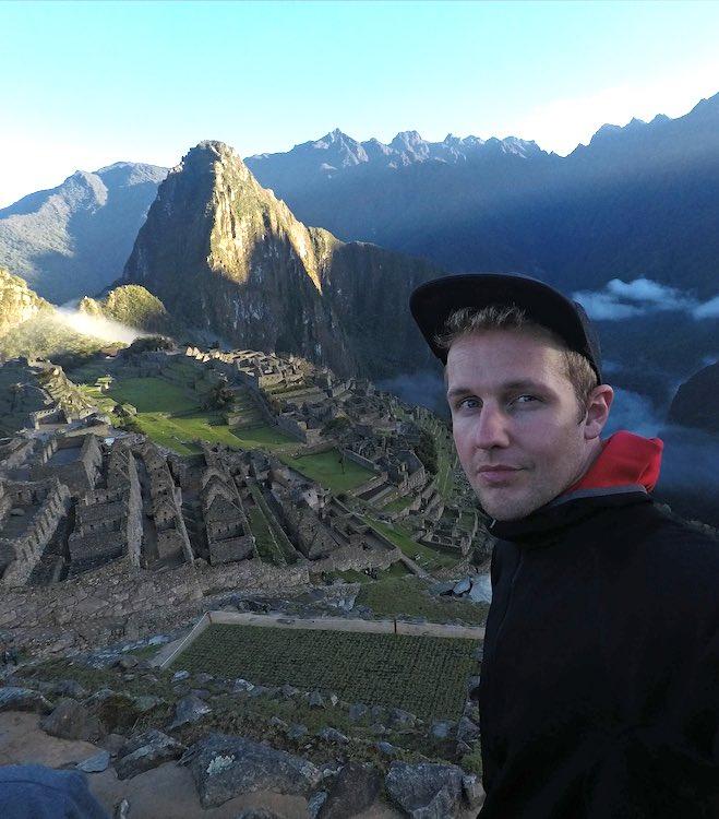 Lukas Zettl in Cusco, der Inkahauptstadt in Peru. Wanderhunger, 7 Fragen