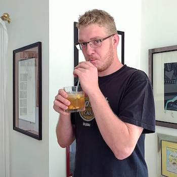 Markus Markschläger beim cocktailtesten. Wanderhunger