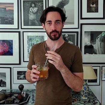 Axel Stasny beim Cocktailtesten. Wanderhunger