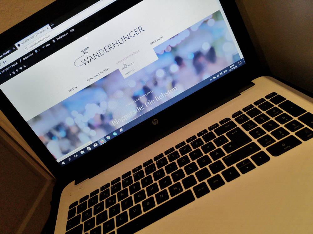 Technik auf Reisen: der Laptop muss mit. Wanderhunger