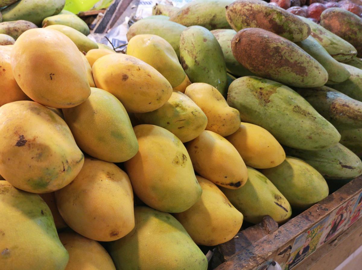 Mangos werden in Thailand sowohl reif als auch unreif gegessen. Wanderhunger