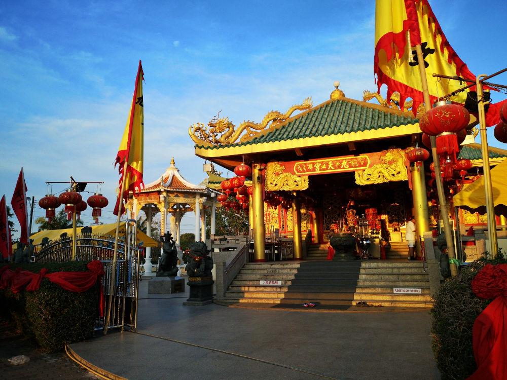Der Kua Tian Keng Schrein (chinesisch) im Saphan Hin Park in Phuket Town in Thailand. Wanderhunger